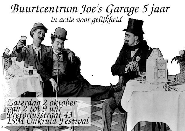 Zaterdag 2 oktober 2010, Joe's Garage bestaat 5 jaar! in samenwerking met Onkruid Festival