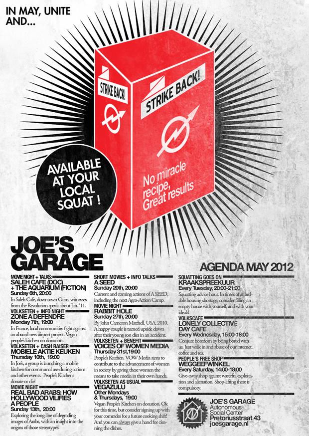 Mei 2012 Joe's Garage Poster