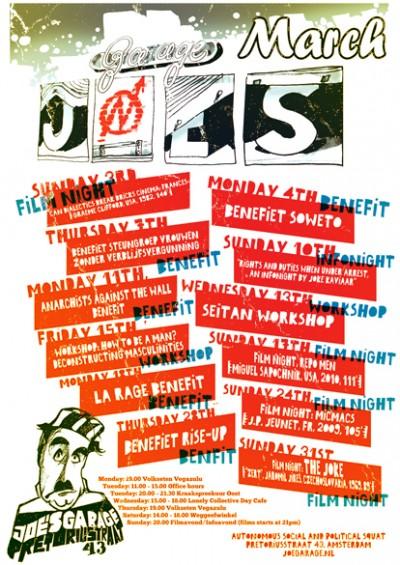 Joe's Garage March 2013 poster