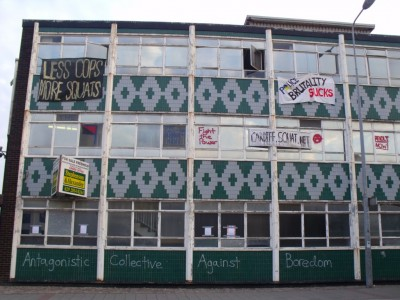 Cardiff Canton Police Station squatted