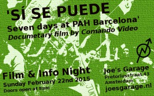 20150222_Joes_Garage_Film_Info_Night_Si_se_puede_Seven_Days_at_Barcelona